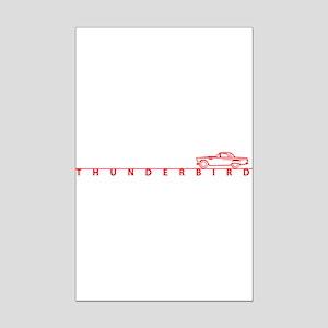 1955 T Bird Top on Script Red Mini Poster Print