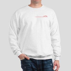 1955 T Bird Top on Script Red Sweatshirt