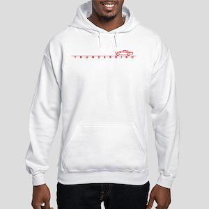 1955 T Bird Top on Script Red Hooded Sweatshirt