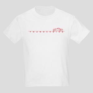 1955 T Bird Top on Script Red Kids Light T-Shirt