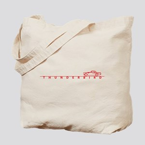 1955 T Bird Top on Script Red Tote Bag