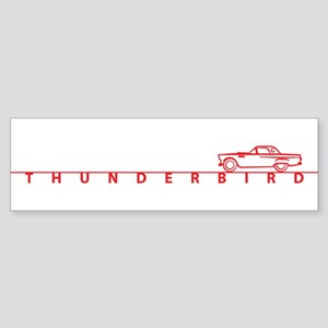 1955 T Bird Top on Script Red Bumper Sticker