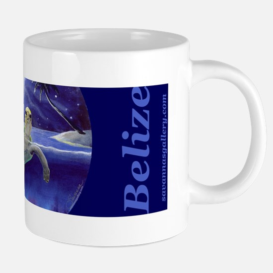 Belize, Sea Turtle, waterco 20 oz Ceramic Mega Mug
