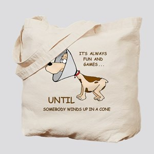 Dog Cone Tote Bag