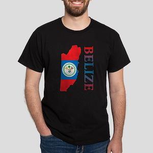 Map Of Belize Dark T-Shirt