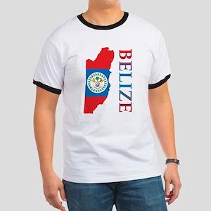 Map Of Belize Ringer T