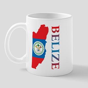 Map Of Belize Mug