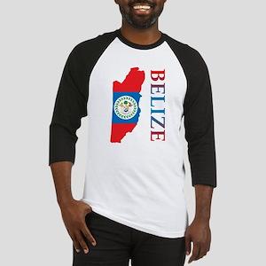 Map Of Belize Baseball Jersey