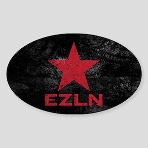 Zapatista Army Oval Sticker