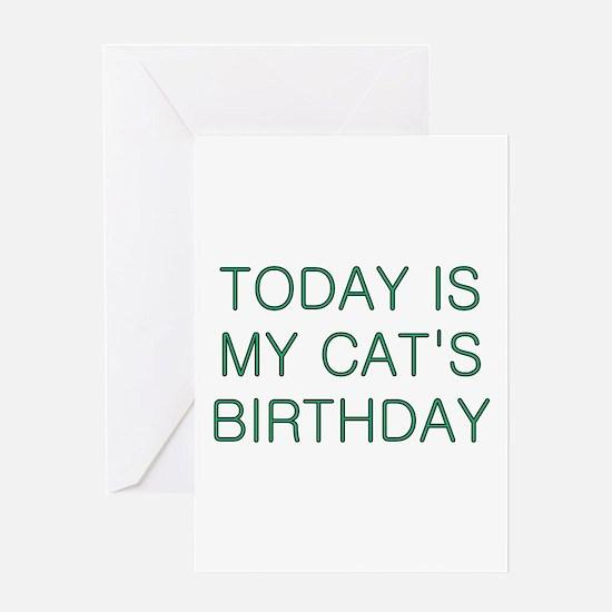 Cat's Birthday Greeting Card