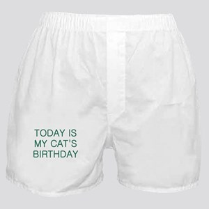 Cat's Birthday Boxer Shorts