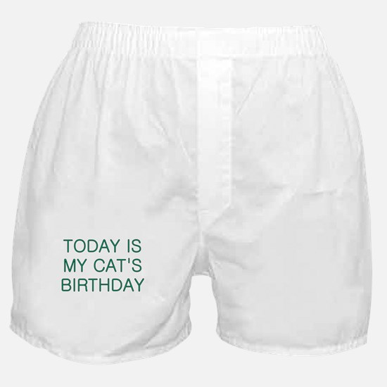 Cat's Birthday Boxer Shorts
