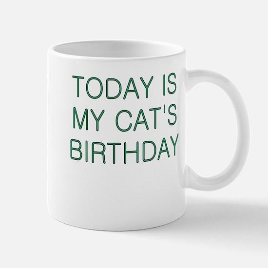 Cat's Birthday Mug