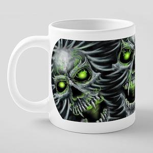 Green-Eyed Skulls 20 oz Ceramic Mega Mug