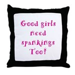 Funky Font for the Good girls - Throw Pillow
