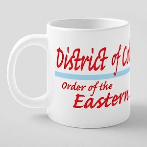 DC eastern star shirt 20 oz Ceramic Mega Mug