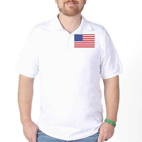 50 Star US Flag Golf Shirt