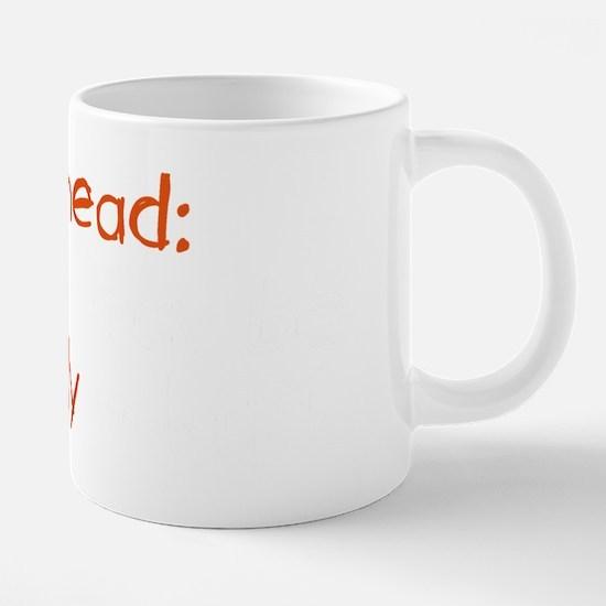 Redhead Contents May Be Ext 20 oz Ceramic Mega Mug