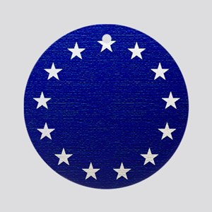 Betsy Ross Flag Ornament (Round)