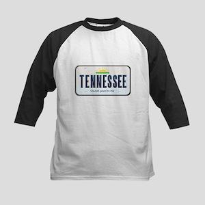 Tennessee Plate Kids Baseball Jersey