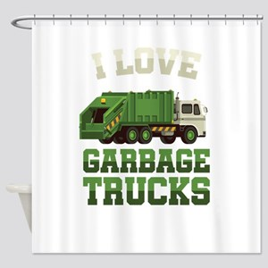 I Love Garbage Truck Collectors Veh Shower Curtain