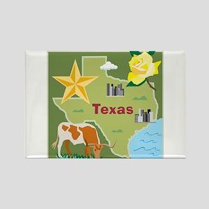 Texas Map Rectangle Magnet