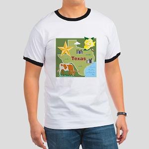 Texas Map Ringer T