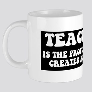 TEACHING PROF MUG BLK 20 oz Ceramic Mega Mug