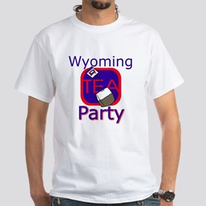 No Date: Wyoming Tea Party; White T-Shirt