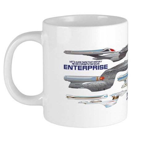 U.S.S. Enterprise Lineage 20 oz Ceramic Mega Mug
