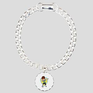 Football Dab Sweden Swed Charm Bracelet, One Charm