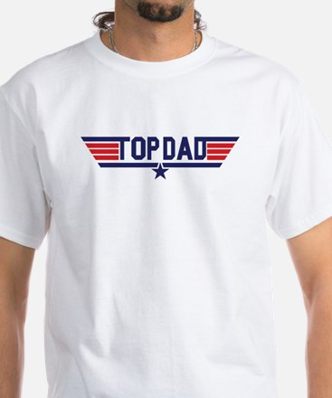 Top Dad White T-Shirt