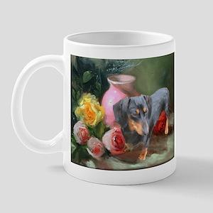 Vase Doxie Mug