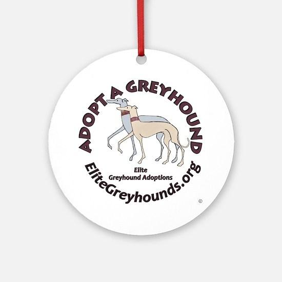 Elite Greyhound Adoption Ornament (Round)