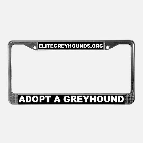 Elite Greyhound Adoption License Plate Frame