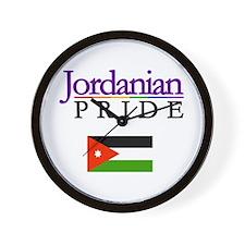 Jordanian Pride Flag Wall Clock