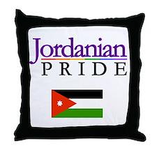 Jordanian Pride Flag Throw Pillow