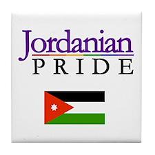 Jordanian Pride Flag Tile Coaster