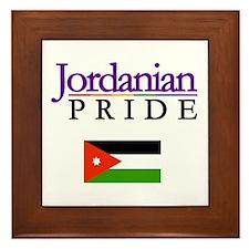 Jordanian Pride Flag Framed Tile