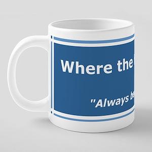 Always bet on blog. 20 oz Ceramic Mega Mug