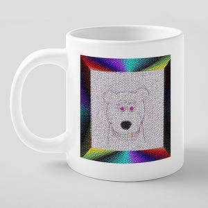 bear face_rainbow teeth-til 20 oz Ceramic Mega Mug