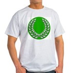 Green with Silver Laurel Ash Grey T-Shirt