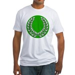 Green with Silver Laurel Fitted T-Shirt