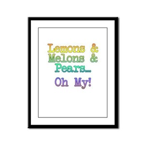 Lemons, Melons, and Pears, Oh My! Framed Panel Pri