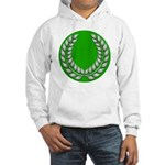 Green with Silver Laurel Hooded Sweatshirt