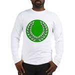 Green with Silver Laurel Long Sleeve T-Shirt