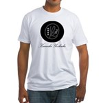 Round Crest Blk Men's Fitted T-Shirt