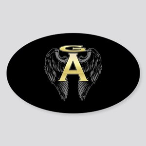 Archangel Wings Oval Sticker