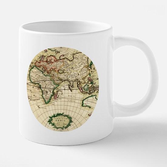 World Map 1671 20 oz Ceramic Mega Mug