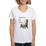 Proud Parent of a Great Pyr Women's V-Neck T-Shirt